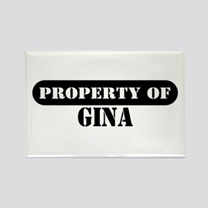 Property of Gina Rectangle Magnet