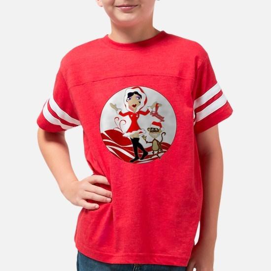 hollygirl_circle_blk Youth Football Shirt