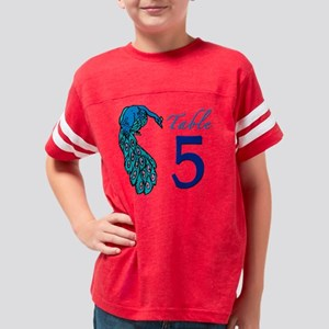 Peacock Table 5 Youth Football Shirt