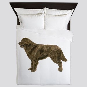Brown Newfoundland dog Queen Duvet