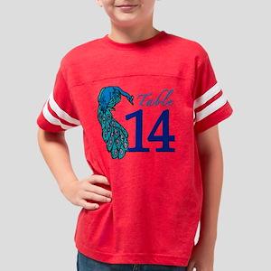 Peacock Table 14 Youth Football Shirt