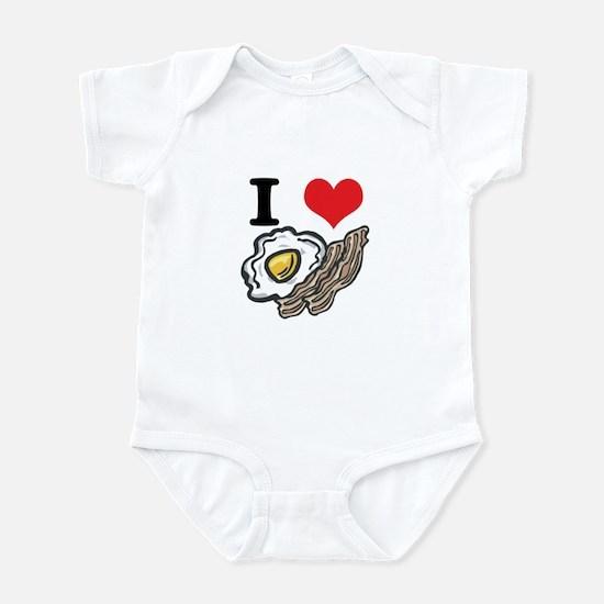 I Heart (Love) Bacon and Eggs Infant Bodysuit