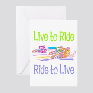 Live to Ride Greeting Cards (Pk of 10)