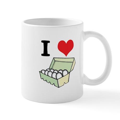 I Heart (Love) Eggs Mug