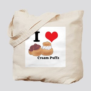 I Heart (Love) Cream Puffs Tote Bag