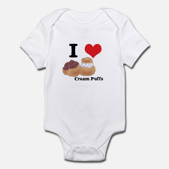 I Heart (Love) Cream Puffs Infant Bodysuit