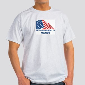 Loving Memory of Mandy Ash Grey T-Shirt