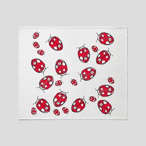 Ladybug Red Throw Blanket