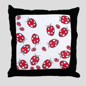 Ladybug Red Throw Pillow