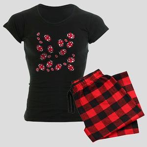 Ladybug Red Women's Dark Pajamas