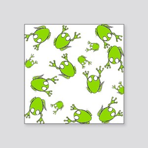 "Little Green Frogs Square Sticker 3"" x 3"""