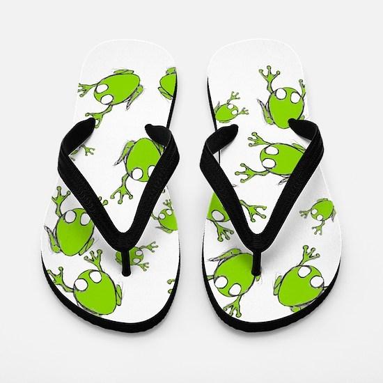 Little Green Frogs Flip Flops
