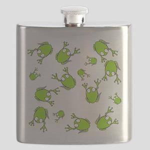 Little Green Frogs Flask