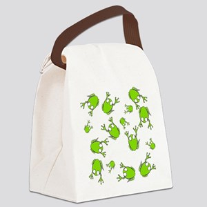 Little Green Frogs Canvas Lunch Bag