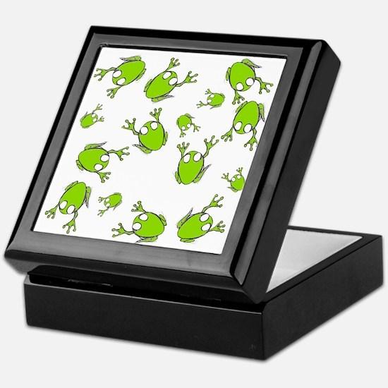 Little Green Frogs Keepsake Box