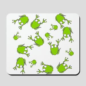 Little Green Frogs Mousepad