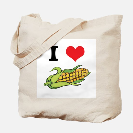 I Heart (Love) Corn (On the Cob) Tote Bag