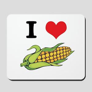 I Heart (Love) Corn (On the Cob) Mousepad