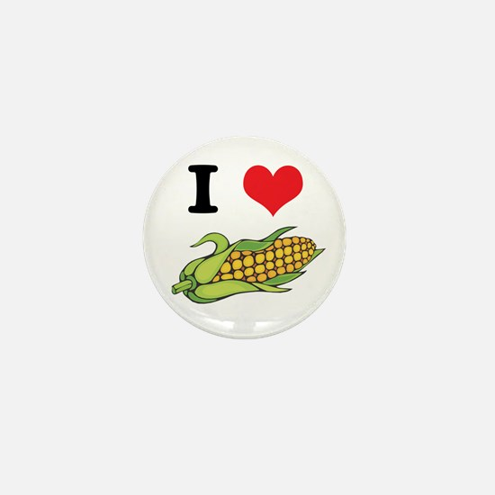 I Heart (Love) Corn (On the Cob) Mini Button