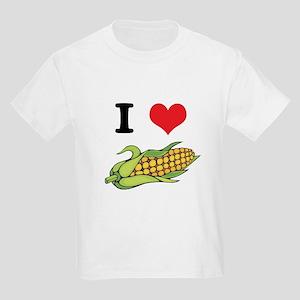 I Heart (Love) Corn (On the Cob) Kids T-Shirt