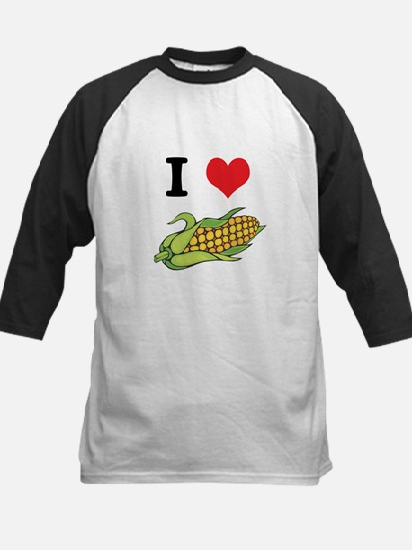 I Heart (Love) Corn (On the Cob) Kids Baseball Jer
