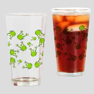 Little Green Frogs Drinking Glass