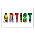 Artist-paint splatter Sticker