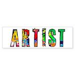 Artist-paint splatter Bumper Sticker