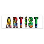 Artist-paint splatter Bumper Sticker