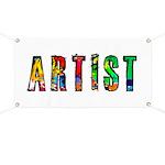 Artist-paint splatter Banner