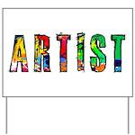 Artist-paint splatter Yard Sign
