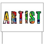 Artist-paint splatter Yard Sign