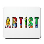 Artist-paint splatter Mousepad