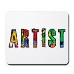 Artist-paint splatter Mousepad