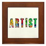 Artist-paint splatter Framed Tile