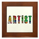 Artist-paint splatter Framed Tile