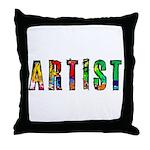 Artist-paint splatter Throw Pillow