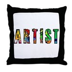 Artist-paint splatter Throw Pillow