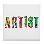Artist-paint splatter Tile Coaster
