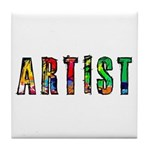 Artist-paint splatter Tile Coaster