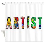 Artist-paint splatter Shower Curtain