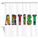 Artist-paint splatter Shower Curtain