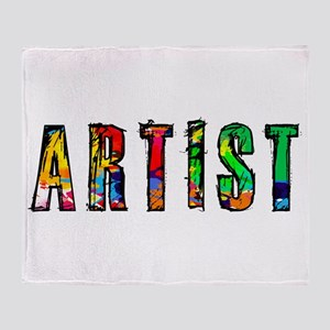 Artist-paint splatter Throw Blanket