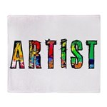 Artist-paint splatter Throw Blanket