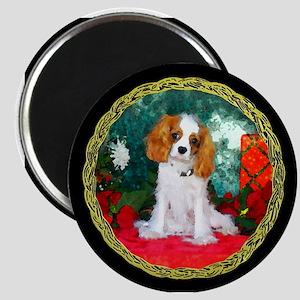 Cavalier King Charles Spaniel Christmas Magnet