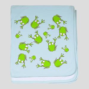 Little Green Frogs baby blanket