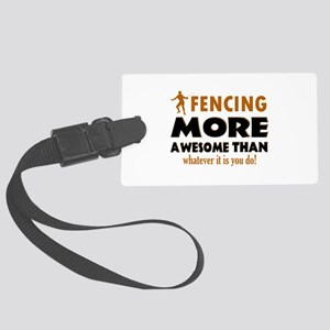 Awesome Fencing Designs Large Luggage Tag