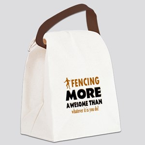 Awesome Fencing Designs Canvas Lunch Bag