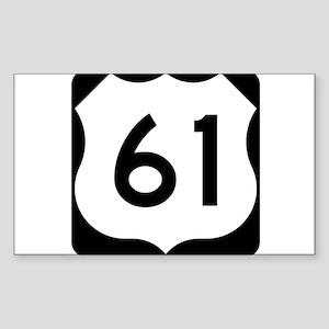 Highway 61 Rectangle Sticker