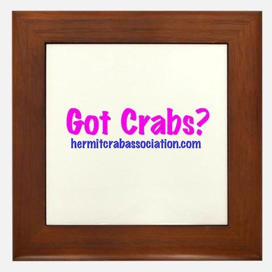 Got Crabs? Framed Tile